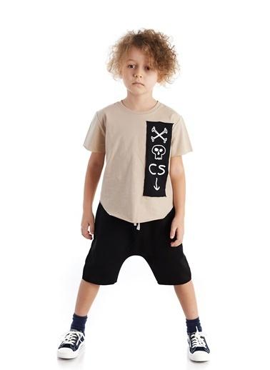 Colorinas Oversize Patch T-Shirt Taş